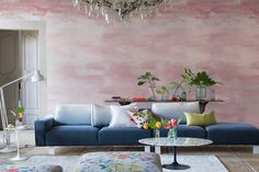 Designers Guild create inspirational home décor collections and interior furnishings including fabrics, wallpaper, upholstery, homeware & accessories. Stylish Sofa, Pink Decor, Rose Wallpaper, Decor, Pink Interiors Design, Designers Guild, Luxury Home Decor, Furniture Design, Affordable Furniture