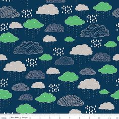 Greatest Adventure - Clouds Navy - by Natalie Lymer for Riley Blake Designs (Yardage, 100% Cotton) by TheCleverQuiltShoppe on Etsy