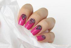 Beaded pink nails - Maris Nail Polish Blog