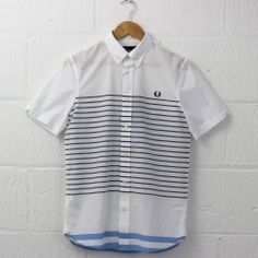 Fred Perry Tipped Summer Shirt (White) from new-entry.com #fredperry #shirting #menswear #newentry