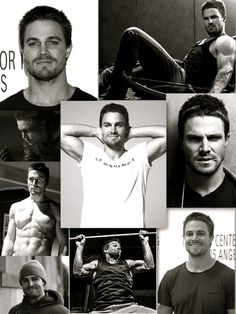 Stephen Amell from Arrow.  Nice to look at, and he can really act! :)