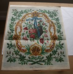 BERLIN WOOL WORK pattern from archive collection  1860s 1870s ideal to use frame
