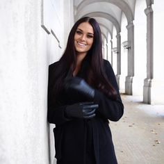 Leather Gloves, Candid, High Neck Dress, Celebs, Chic, Lady, Beauty, Beautiful, Dresses