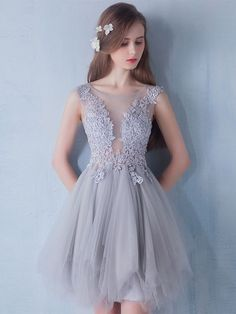 A-line Lace Short Prom Dresses,Lace and Tulle Homecoming Dresses on Storenvy Sweet 16 Dresses, Lovely Dresses, Elegant Dresses, Short Dresses, 2016 Homecoming Dresses, Prom Dresses, Girls Dance Dresses, Look Fashion, Designer Dresses