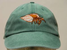 426b98b8c12 HERMIT CRAB Hat - One Embroidered Men Women Wildlife Baseball Cap - Price  Embroidery Apparel - 24 Color Crustaceans Mom Dad Child Pet Gift