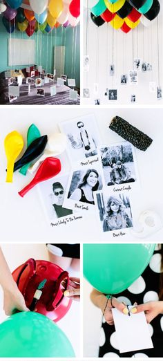 Balloon + Photo Memory Gallery | Click Pic for 24 DIY Christmas Gifts for Teen Girls | Handmade Gift Ideas for Teen Girls