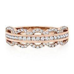 FOR THE ROMANTIC BRIDE: 1/2 ct. tw. Diamond Anniversary Band in 14K Gold available at #HelzbergDiamonds