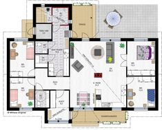 Tuomas 148 House Layouts, My Dream Home, Future House, Floor Plans, Flooring, How To Plan, Architecture, Building, Sims