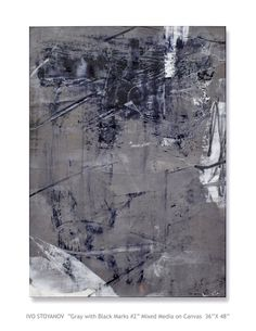 "Ivo Stoyanov ""Gray with Black Marks #2"""