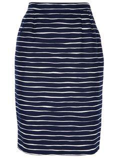 YVES SAINT LAURENT VINTAGE - striped pencil skirt