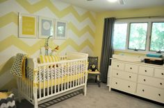 nursery Only-wall color in gray, accents of yellow!