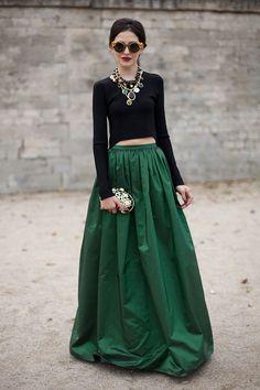 beautiful exaggerated maxi skirt