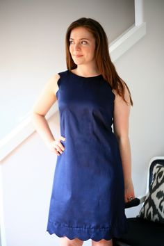 I was totally inspired when I saw this simple J.Crew Factory shift dress  the other week. I've been making more sheath dresses (no waist, st...