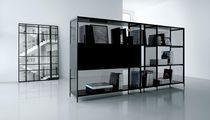 Contemporary metal bookcase