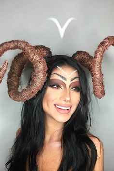 Makeup Artist Brings Each Zodiac Sign to Life in Strikingly Gorgeous Photo Series Beautiful Halloween Makeup, Halloween Face Makeup, Aries Art, Rave Festival, Cancer Sign, Photo Series, Boudoir Photos, Glowing Skin, Costumes
