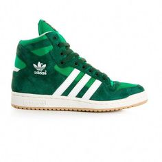 reputable site 1bd4a ab62c ADIDAS Decade Og Mid Sneaker (Dark Green White).