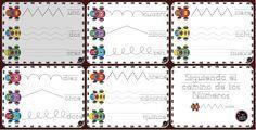 Impresionantes fichas Grafomotricidad números 1 - 15