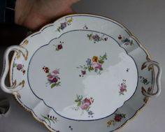 Antigo-Grande-Pintados-A-Mao-Assinado-prato-da-bandeja-De-Porcelana-Sevres-Flores