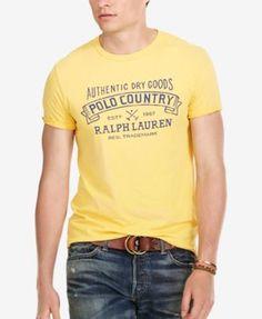 POLO RALPH LAUREN Polo Ralph Lauren Men'S Custom-Fit Graphic T-Shirt. #poloralphlauren #cloth #shirts