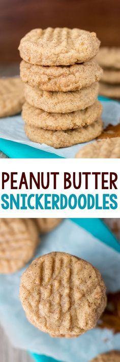 EASY Peanut Butter Snickerdoodles - this is the ORIGINAL peanut butter snickerdoodle recipe! EVERYONE who tastes them loves them!