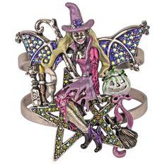 Star Goddess Witch Cuff Bracelet (Large Size): Kirks Folly Online Web Store