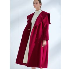 Collar sailor coat is composed of wool and cashmere. Oversized notch collar is transformed to a sailor collar. Overall, this coat can be worn comfortably with a oversized and relaxed fit. Sailor Collar, Aesthetic Value, Suit Fabric, Abaya Fashion, Perfect Match, Mens Suits, Composition, Duster Coat, Overalls