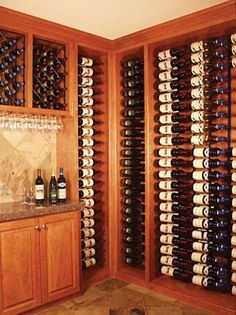 Ooh La La!! I don't know what I want more, the wine or the wine storage!!