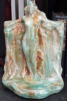 c1920  Catalina Pottery female figural Bookends