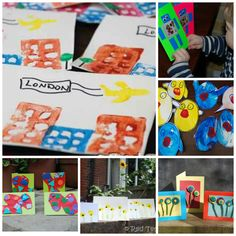 20 Card Making Ideas for kids - a great way to get crafty and spread a little creative joy among family and friends. Make these lovely cards with the kids and then get some Writing Practice in too