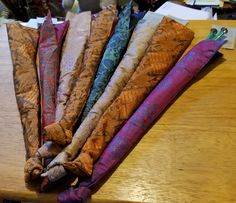 These are beautiful silk with silk lining knitting needle holders. A perfect gift for the knitter in your life or of course for yourself! These are products that were produced by an education and income generation project and by small family owed enterprises.