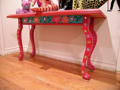 Painted Table by Patti Haskins - Love this.  I believe I have Mexican heritage that no one has told me about yet.