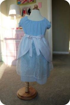 DIY Cinderella Dress - with links to Belle, Snow White, and the original peasant dress tutorial that is the base.