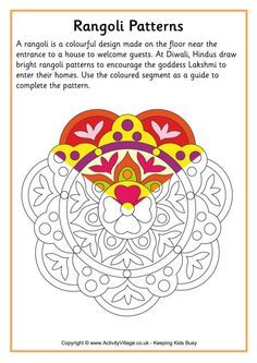 Image result for easy rangoli color by numbers
