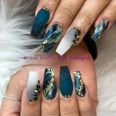 impressive matte coffin nail art designs you must try 6 Related Coffin Nails Matte, Best Acrylic Nails, Summer Acrylic Nails, Glam Nails, Bling Nails, Marble Nails, Acrylic Set, Acrylic Nail Art, Cute Acrylic Nail Designs