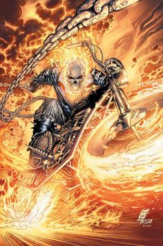 Ghost Rider by Marc Silvestri. Marvel Comics.