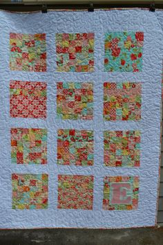 Baby girl or Toddler Quilt by raincityquilts on Etsy, $165.00 One of April's Shop Hop Entries.. They're all Gorgeous!!