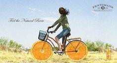 Fentimans outdoor // Feel the Natural Brew on Behance #orange #beer #fentimans #outdoor #ad #billboard #brew #bike #cycling #tradition #bicycle #mycookiecan