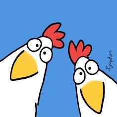 Here's looking at you - Sandra Boynton Chicken Drawing, Chicken Painting, Chicken Art, Sandra Boynton, Stone Painting, Painting & Drawing, Art Fantaisiste, Cartoon Chicken, Doodle Doo