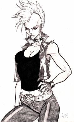 Punk Storm Sketch by CrimsonArtz.deviantart.com on @deviantART