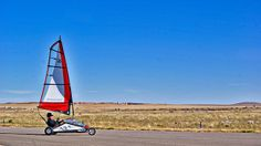 New Mexico- Bert goes blokarting at a remote airfield in Albuquerque!