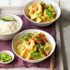 Spiced squash and prawns with coconut and chilli - Sainsbury's Magazine.