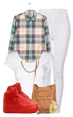 """""""Chill."""" by cheerstostyle ❤ liked on Polyvore featuring Topshop, MANGO, Jane Norman, T-shirt & Jeans, NIKE and Michael Kors"""