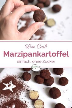 You can easily make low carb marzipan potatoes yourself. With just a few ingredients, you can conjure up a delicious marzipan without sugar within a few minutes. Low carb marzipan recipes are amazingl Low Carb Desserts, Vegan Desserts, Low Carb Recipes, Vegan Recipes, Low Carb Cookies, Marzipan Recipe, Banana Dessert Recipes, Dessert Diet, Peach Crumble