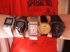 I love watches. Here are my favourites.  My total favourite is on the far right..!