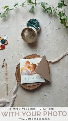 Rustic wedding invitations with your photo rusticweddinginvitations rusticweddinginvitations simpleinvitations weddinginvitationswithphotography summerwedding romanticbride brigitte Backyard Wedding Invitations, Wedding Invitations With Pictures, Country Wedding Invitations, Rustic Invitations, Wedding Invitation Cards, Wedding Cards, Diy Wedding, Wedding Events, Wedding Backyard