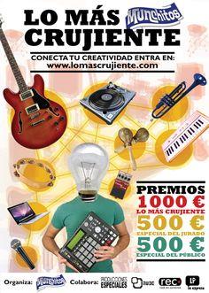 """Tres decenas de bandas inscritas ya en el concurso musical """"Lo más crujiente"""" - http://gd.is/OOYdKV"""