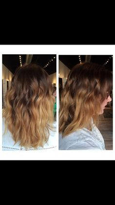 #golden spring #ombre done by Abigail. finished with a beachy wave. #balayage #hairpainting #rpsthesalon #hair