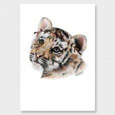 Tiger Cub Art Print by Olivia Bezett