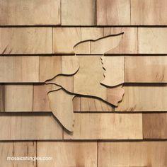 Cedar Shake Bird Design