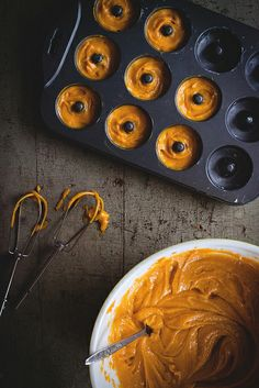 Buttermilk-Glazed Kabocha Doughnuts with Candied Thyme